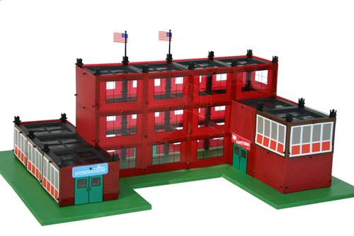 The Clarksville Elementary School Building Set is one of the engineering-inspired offerings from Paul Flack's Bridge Street Toys.