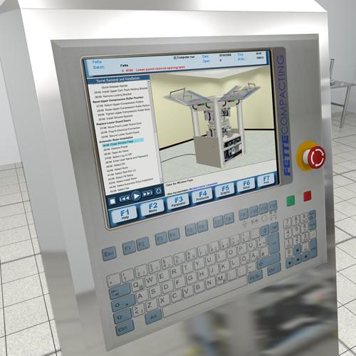 New and richer HMI solutions make it possible to offer interactive video and/or animation as training tools that can walk the operator or maintenance technician through the solution step by step.