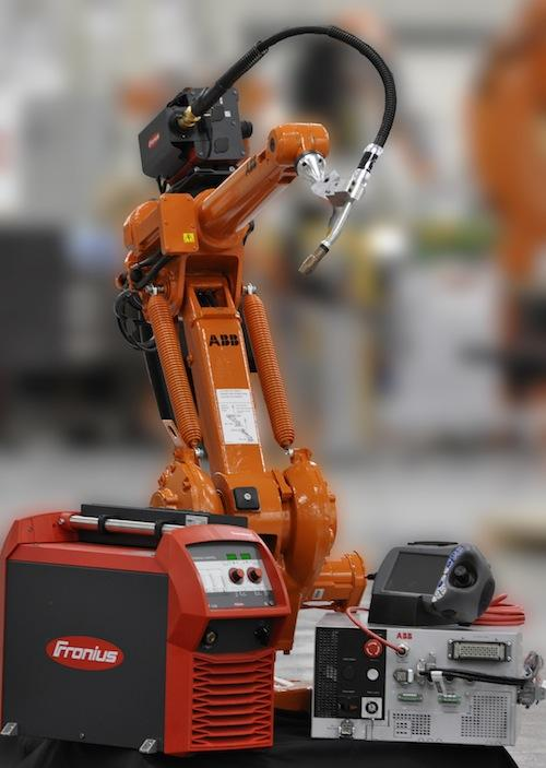 The ArcPack Lean 1410 welding robot package is an example of the smaller, entry-level welding robot packages  now available for smaller companies. 