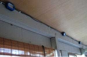 During installation, the controllers were located in a covered porch area. 