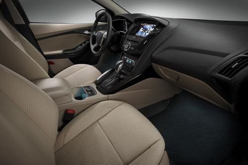 The seat fabric in Ford's new Focus EV is made of fibers from recycled 