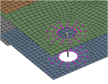 ANSYS 14.0 introduces a number of features that allow the user to control various components of the finite element model within the mechanical environment. All connections such as constraint equations, spiders, or weak springs can now be visualized.