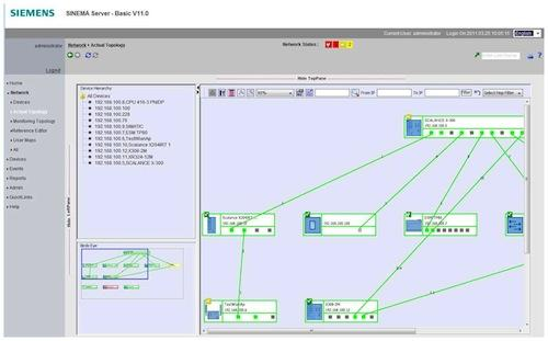 A growing trend in industrial networking is the desire to manage and maintain the entire network from one terminal, including diagnostics and historical reports of the network status. To address this demand, Siemens has developed Sinema Server as a tool geared for automation engineers to provide this comprehensive functionality.