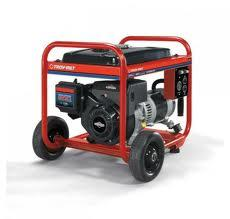 The voltage regulator on the Troy-Bilt generator failed, frying household electrical products 