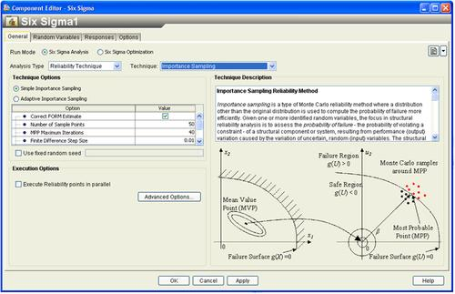 Isight 5.6 delivers a reliability analysis technique for importance sampling that allows users to compute and sample around the most probable point of failure in a design.