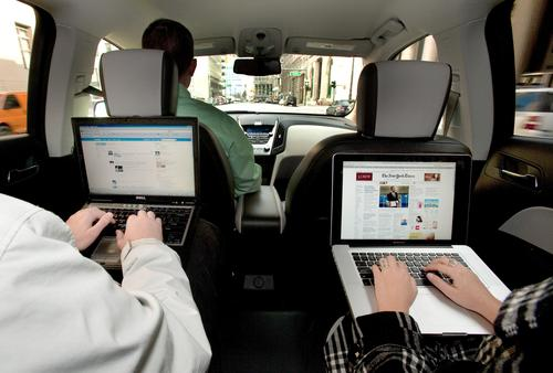 Autonet Mobile's in-car router lets occupants surf the Web while the car is moving. 