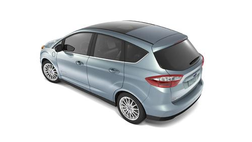 Ford's C-Max Energi plug-in hybrid, scheduled to hit showrooms in mid-2012, will offer a range 