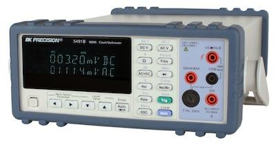 A B&K Precision Model 5491B digital multimeter can take as many as 25 samples per second and provide true rms values to a PC. The company also provides instrument control software.