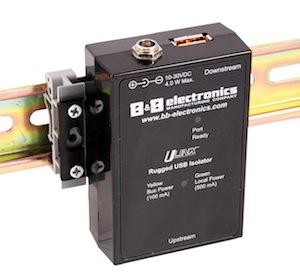 Sensors can be protected by Ethernet isolators.