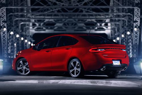 The new Dodge Dart uses LEDs around the taillight display, and in the instrument panel.   (Source: Chrysler Corp.)