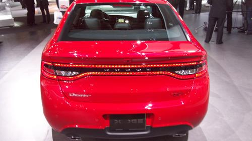 The Dodge Dart employs 152 LEDs in a 'racetrack' that surrounds the tail lights and deck lid.   (Source: Design News)