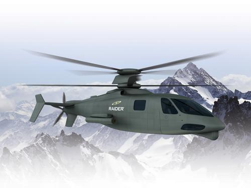 Composite structures and prepegs will help give the super-fast S-97 RAIDER demonstration helicopter strength and light weight.   (Source: Sikorsky Aircraft)