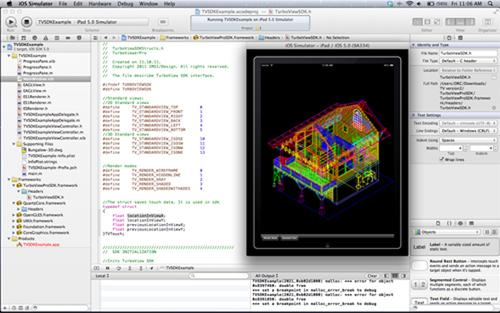 The TurboApps SDK is a mobile development platform that lets developers build mobile CAD apps incorporating 2D and 3D DWG and DXF wireframe viewing capabilities.