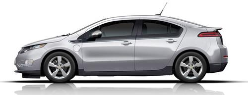 The biggest question surrounding Chevy's plan to load lithium-ion batteries with renewable electrons is whether the plan is meaningful. Shown here is the 2012 Chevy Volt. 