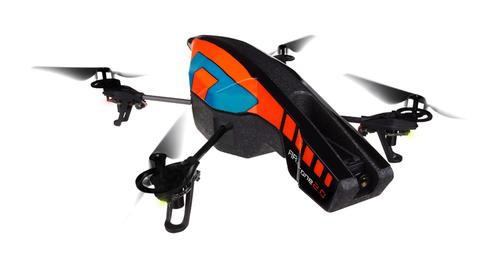 The Parrot AR.Drone 2.0 has a streamlined hull for outside use. For inside use, 