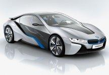 BMW will include both aluminum and carbon FRPs in the new BMW i line of electric vehicles (EVs) designed for city driving. Shown here is the BMW i8 concept car. 