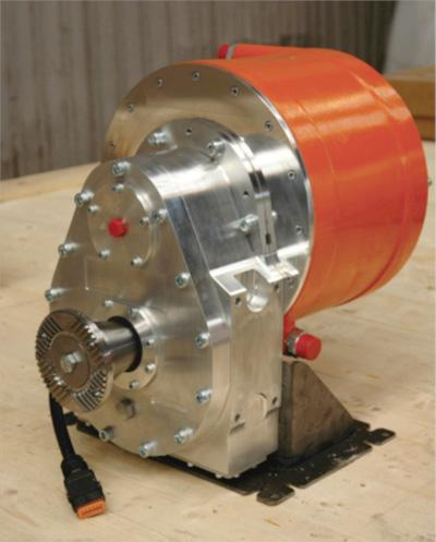 The Newton eTrans electrification system employs a permanent magnet motor rated at 150kW of peak power.   (Source: Smith Electric Vehicles)