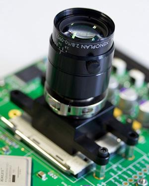 A prototype camera chip meant for industrial vision applications combines a machine-vision-grade 