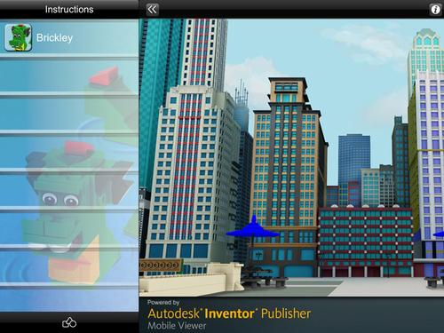 Autodesk's proof-of-concept iPad app, powered by its Inventor Publisher Mobile Viewer, 