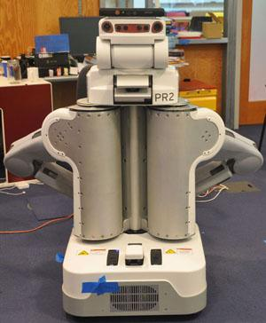 MIT researchers used a Willow Garage PR2 robot with Microsoft's Kinect sensor to test a 3D mapping system that can be continuously updated with new information to help the robot navigate unknown environments.  (Source: Hordur Johannsson, Massachusetts Institute of Technology)
