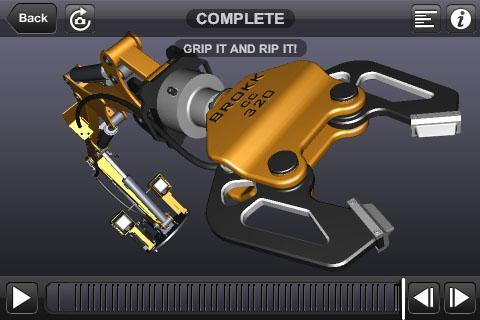 Autodesk Publisher Mobile Viewer allows for interactive viewing of animated 3D assembly instructions created with Autodesk Inventor Publisher desktop software.   (Source: Autodesk)