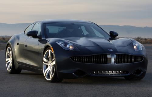 A 2012 Fisker Karma luxury electric car became bricked after being driven onto the track at Consumer Reports' automotive test facility in Connecticut.