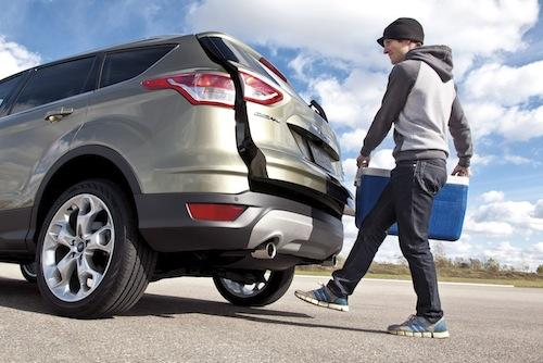 The 2013 Ford Escape will use capacitive technology to operate a hands-free power liftgate.   (Source: Ford Motor Co.)