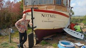 Thomas Dolby built his recording studio in a restored 1930s lifeboat.