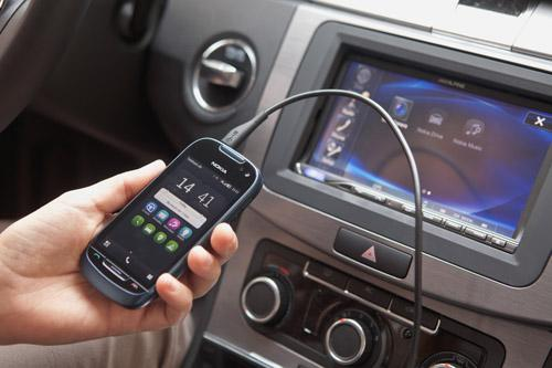 Nokia Car Mode is based on a standard called MirrorLink, which enables drivers to bring a phone into a vehicle and connect it, not only to the center console display, but also to the steering wheel knobs and buttons. (Source: Car Connectivity Consortium)