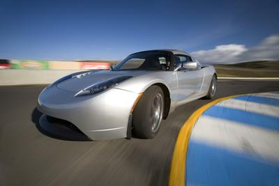 Tesla, which is often knocked for the price tag on its original Roadster, above, continues to refine its technology and drive down the cost of the batteries, according to CTO and co-founder JB Straubel. (Source: Tesla)