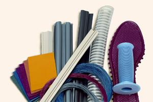 A new family of vinyl compounds that incorporate bio-based plasticizers will be used in a variety of consumer and industrial products, including shoe soles, bicycle grips, corrugated tubing for appliances, weatherstripping, and other construction applications.   (Source: Teknor Apex)