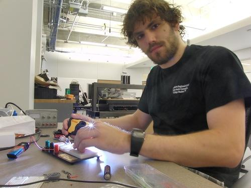 James Hartnett's high-speed circuit can trigger a flash when movement or sound is detected.