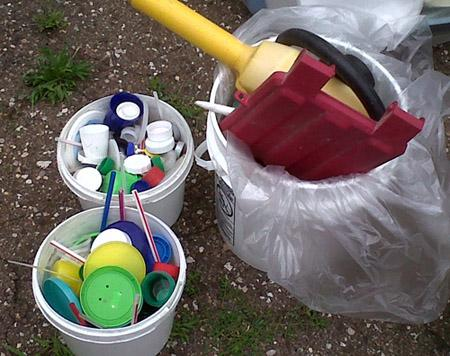 Common household items made of mixed plastics, whether clean or contaminated, can serve as a feedstock for PolyFlow's pyrolysis-based plastics-to-fuel conversion process.   (Source: PolyFlow)