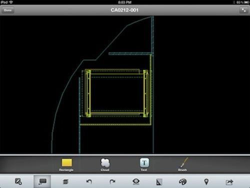 Constant Aviation engineers employ Autodesk's AutoCAD WS app to help design the proper placement of electronics going into small planes when out in the field.   (Source: Autodesk)