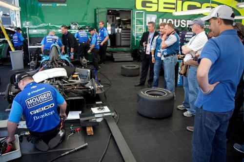 Littelfuse's TechTalk program will enable participants to visit an Indy garage and watch behind-the-scenes action prior to an Indy race.   (Source: Littelfuse Inc.)