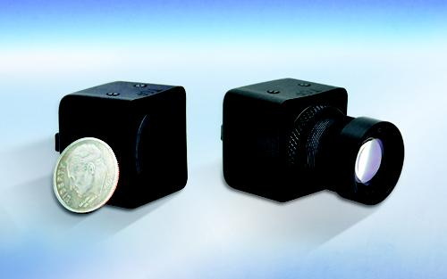 A one-inch cube camera that sees through fog and smoke at short-wave infrared spectra is small and light enough to be handheld or mounted onto helmets and weapon systems.   (Source: Goodrich ISR Systems)
