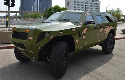 The Army's latest concept vehicle, the FED Bravo, made its public debut at the Society of Automotive Engineers 2012 World Congress in Detroit last week. (Source: US Army)