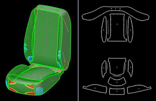 It takes 5,000 data points to define a car seat.   (Source: Siemens)