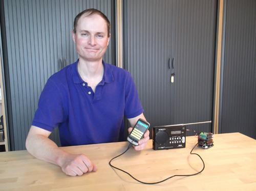 Matt Oppenheim has devised a radio that speaks to an Android smartphone to help the visually impaired learn the layout of a new device.