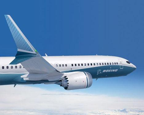 An artist's rendering of the design of the 737 MAX. Boeing and engine partner GE Aviation's CFM recently unveiled yet another tweak to the plane's engine -- an increased engine fan -- to help meet its fuel efficiency goals.   (Source: Boeing)