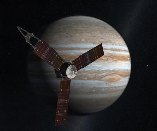 A carbon fiber-reinforced ceramic composite material forms an optical bench on the Juno spacecraft, scheduled to arrive at Jupiter in 2016.   (Source: NASA)
