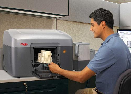 The Mojo 3D Print Pack is Stratasys' first sub-$10,000 desktop, professional-grade 3D printer.   (Source: Stratasys)