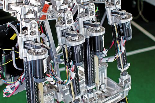 This closeup shows four 30mm brushless motors manufactured by maxon precision motors. (Source: maxon)