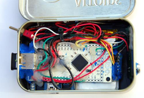 Gadget Freak Case #207: Android Breathalyzer in an Altoids Box Al Linke's tiny Breathalyzer is stored in an Altoids tin, and the results can be sent to his Android phone. The key component is the IOIO board, which enables the Android to receive data from eternal sensors.