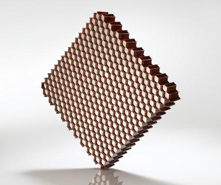Hexcel's fiberglass Acousti-Cap honeycomb core material combines sound dampening properties with lightweighting for aircraft engines.   (Source: Hexcel)