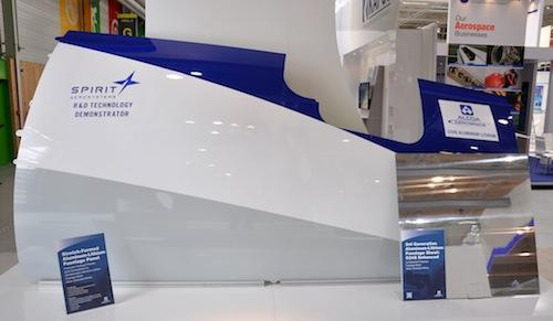 Alcoa's aluminum-lithium alloys reduce weight for structural components, such as this stretch-formed fuselage panel for a single aisle airplane, developed by Alcoa and Spirit AeroSystems for the 2011 Paris Air Show.   (Source: Alcoa)