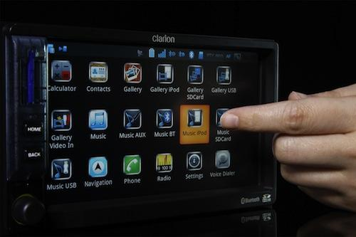 Wind River's Platform for Android served in an in-vehicle entertainment system built by Clarion. (Source: Wind River)