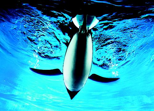 Festo's AquaPenguin is one of many projects the company has pursued under its Bionic Learning Network. The network's purpose is to use the energy-efficient principles already found in nature and adapt them to automation technology. The AquaPenguin is an autonomous underwater vehicle with penguin-inspired hydrodynamic body contours. Equipped with a 3D sonar system, like that of dolphins, it can communicate with its surroundings and other AquaPenguins, independently orient itself, and navigate. Its torso, head, and tail sections can move in all directions for maneuvering in cramped areas, letting it turn on a dime and swim backwards.   (Source: Festo)