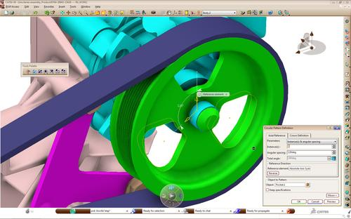 In the latest release, dubbed V5 to V5-6R2012, CATIA V5 users will be able to edit key features of V6 models from within the older version.   (Source: Dassault Systemes)