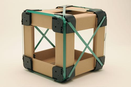 Winner of a gold award in the 2012 DuPont Awards for Packaging Innovation, the CUBE is a Lego-like system that goes from manufacturer's pallet to retail display floor with almost no reconfiguration or changes.   (Source: Smart Packaging Systems)